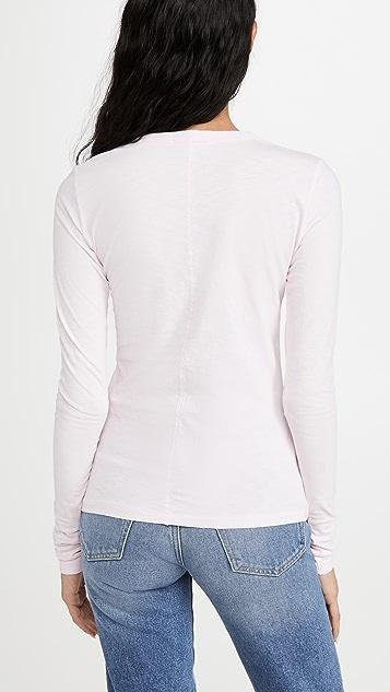 Rag & Bone/JEAN 竹节纹修身 T 恤