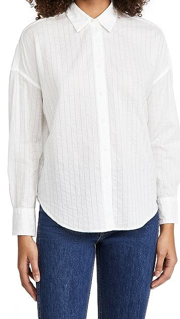 Rag & Bone/JEAN 长袖绑带衬衫