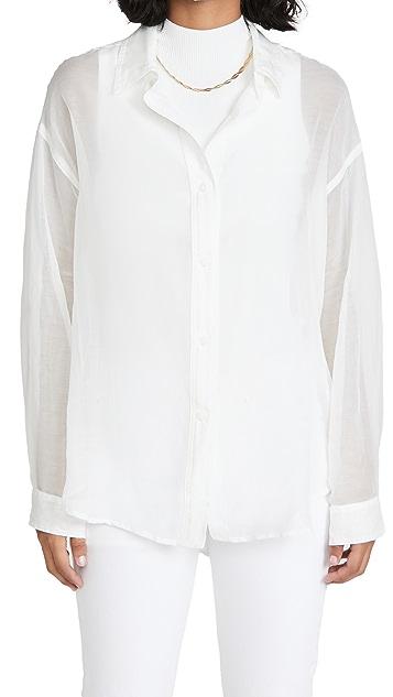 Rag & Bone/JEAN Sheer Boyfriend Shirt