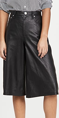 Rag & Bone/JEAN - Super High Rise Leather Culottes
