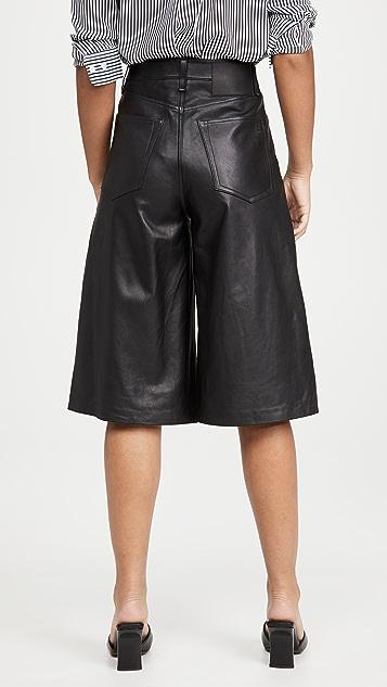Rag & Bone/JEAN 超高腰皮裤裙