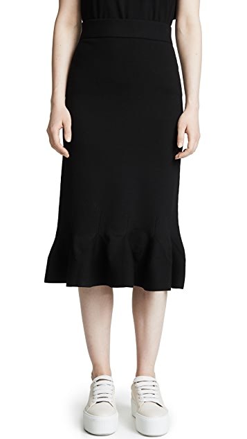 RHIE Perry Ruffle Pencil Skirt