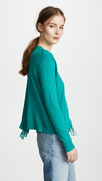 RHIE Jane Pullover with Combo Hem