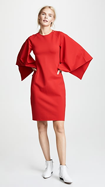 RHIE Draped Sleeve Dress