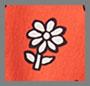红色/黑色花朵