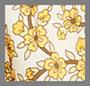 желтый с рисунком в мелкий цветочек