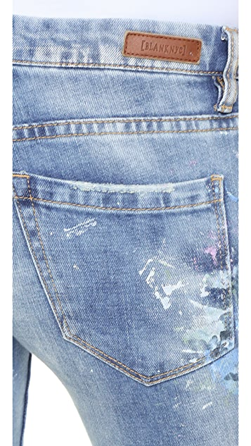 Rialto Jean Project RJP x Blank Denim Distressed Skinny Jeans