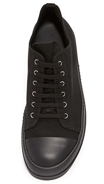Rick Owens DRKSHDW Canvas Cap Toe Low Sneakers