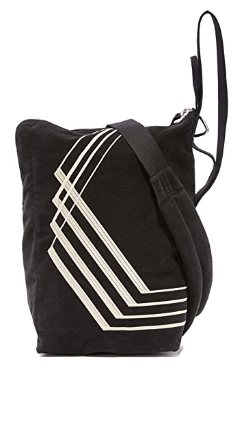 Rick Owens DRKSHDW Moleskin Embroidered Bucket Bag