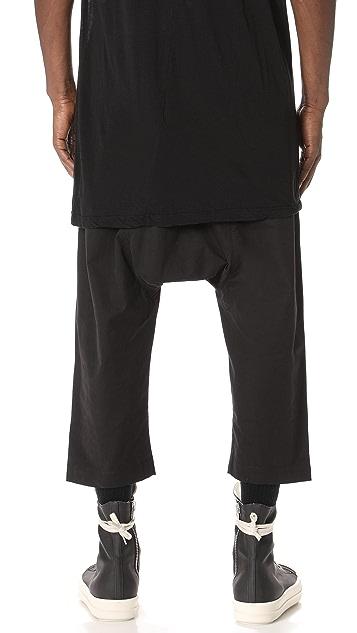 Rick Owens DRKSHDW Cropped Drawstring Pants