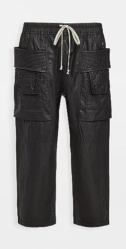 Rick Owens DRKSHDW - Cropped Wax Poplin Creatch Cargo Pants