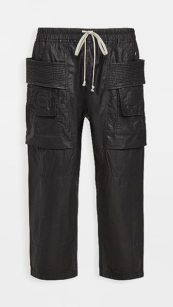 Rick Owens DRKSHDW Cropped Wax Poplin Creatch Cargo Pants
