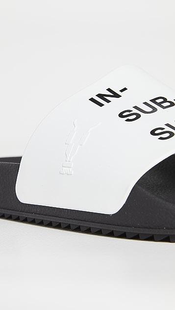 Rick Owens DRKSHDW Rubber Slides