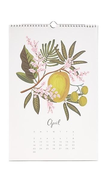 Rifle Paper Co Paradise Gardens 2017 Calendar