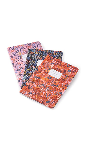 Rifle Paper Co Tapestry Stitched Notebook Set