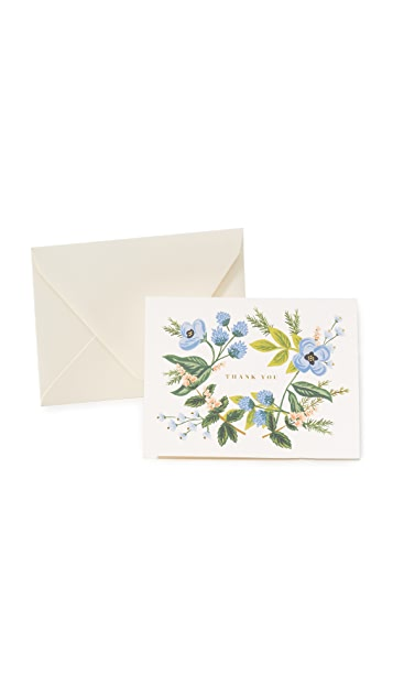 Rifle Paper Co Thank You Bouquet Cards