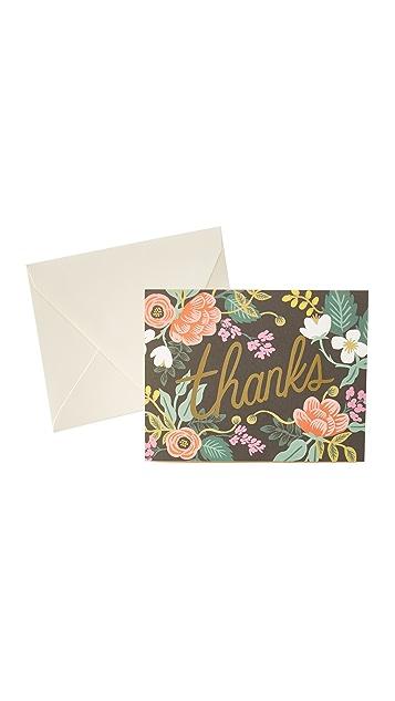 Rifle Paper Co Благодарственные открытки Birch с цветочным рисунком