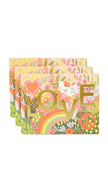 Rifle Paper Co All You Need Is Love Greeting Cards