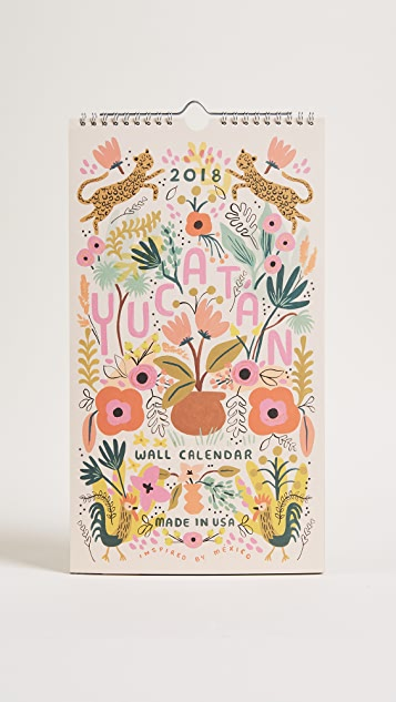 Rifle Paper Co 2018 Yucatan Calendar