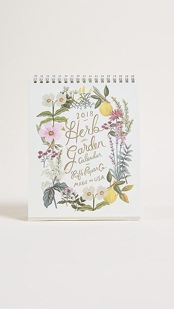 Rifle Paper Co 2018 Herb Garden Desk Calendar