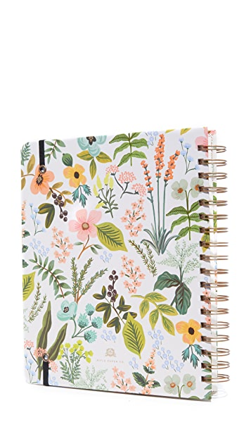 Rifle Paper Co 2018 Herb Garden Spiral Bound Planner
