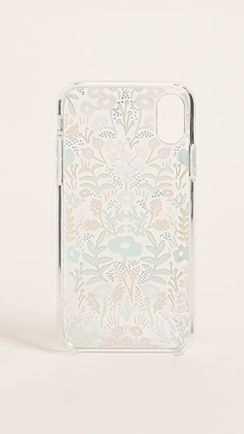 Rifle Paper Co Clear Tapestry iPhone X Case