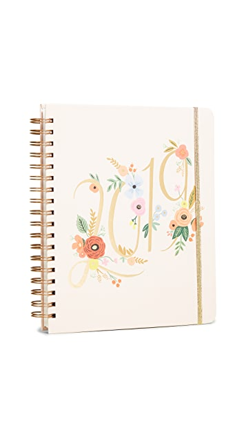 Rifle Paper Co 2019 Bouquet Spiral 17 Month Planner