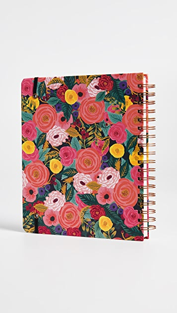 Rifle Paper Co 2019 Juliet Rose Spiral 17 Month Notebook