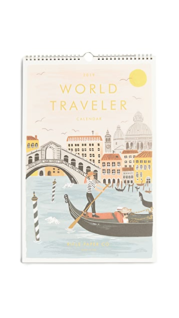 Rifle Paper Co 2019 World Traveler Calendar