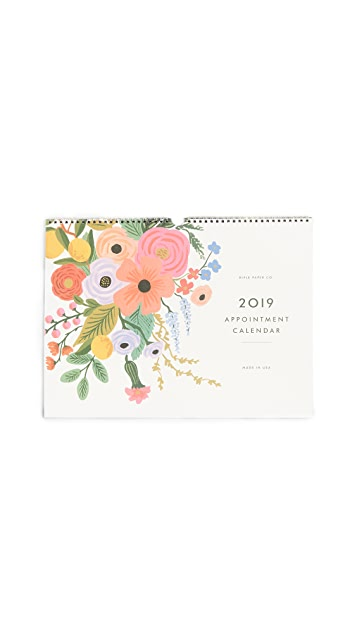 Rifle Paper Co 2019 Garden Party Appointment Calendar