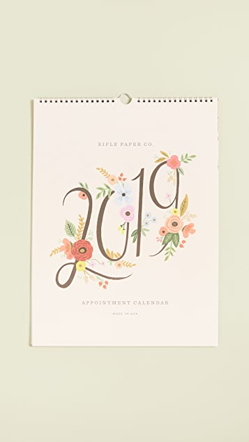 Rifle Paper Co 2019 Bouquet Appointment Calendar
