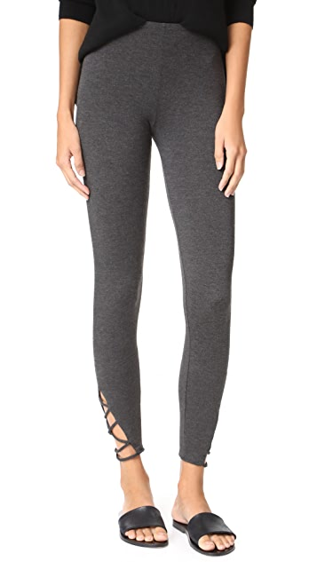 Riller & Fount Merle Leggings with Ankle Detail - Stud French Terry