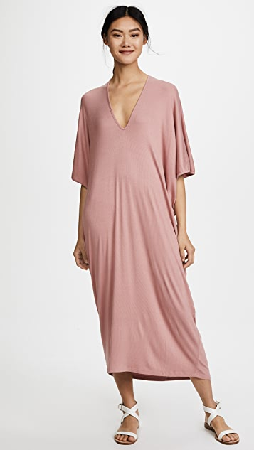 Riller & Fount Luca Ribbed Maxi Caftan Dress