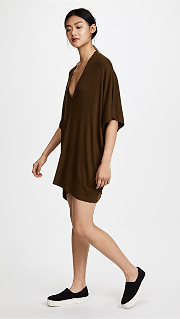 Riller & Fount Lola Ribbed Caftan Mini Dress