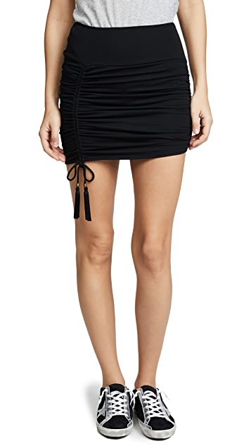 Riller & Fount Peggy Ruched Miniskirt