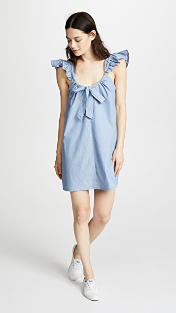 Riller & Fount Evelyn Tie Front Mini Dress