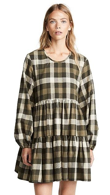 Riller & Fount Kitty Plaid Shirtdress