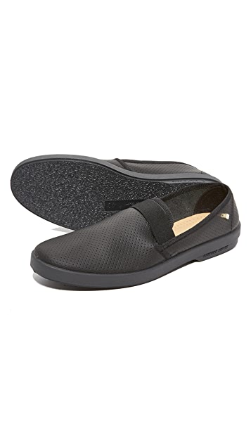 Rivieras Basket 30 Perforated Leather Slip Ons