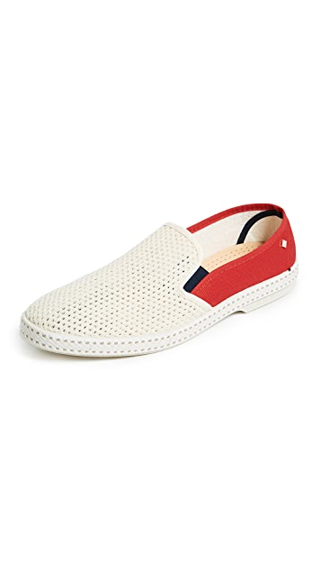 Rivieras TDM France Beige Slip On Shoes