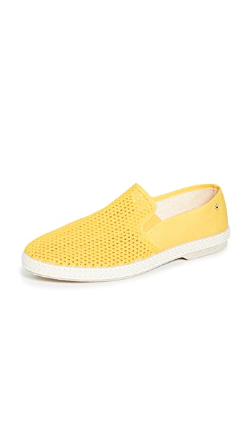 Rivieras Classic 20 Jaune Slip On Shoes