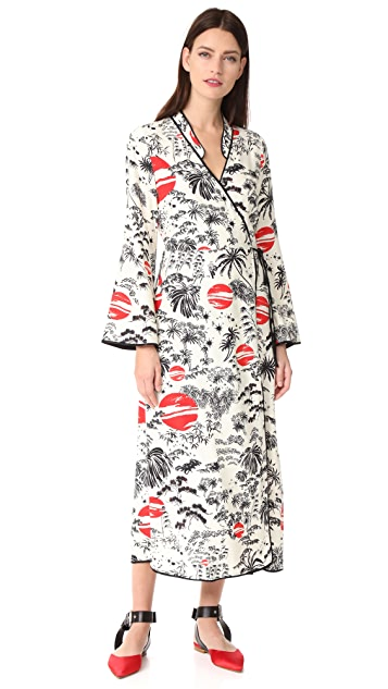 RIXO London Cindy Wrap Dress