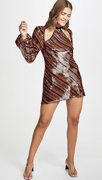 RIXO Платье с блестками Harriet