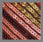 коричневая полоска с блестками, оливковый, розовый