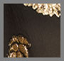 Silk Lame Palm Gold Black