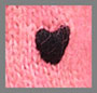 Pink Black Heart Embroidery