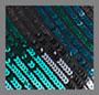 Diagonal Stripe Teal Black Blu