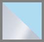 真丝金银线棕榈银色蓝色
