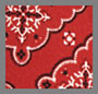Scarf Floral Red