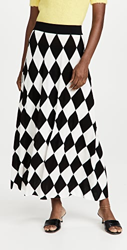 RIXO - Brandy 针织中长半身裙