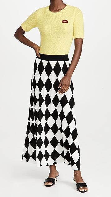 RIXO Brandy Knit Midi Skirt